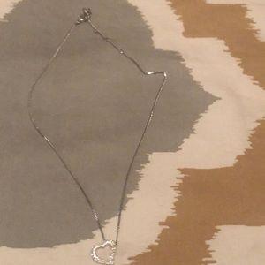 Swarovski silver heart necklace
